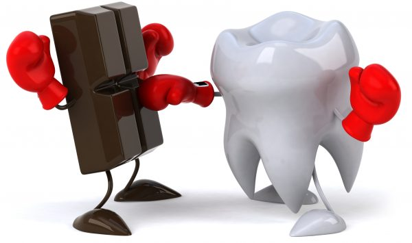 歯vsチョコ