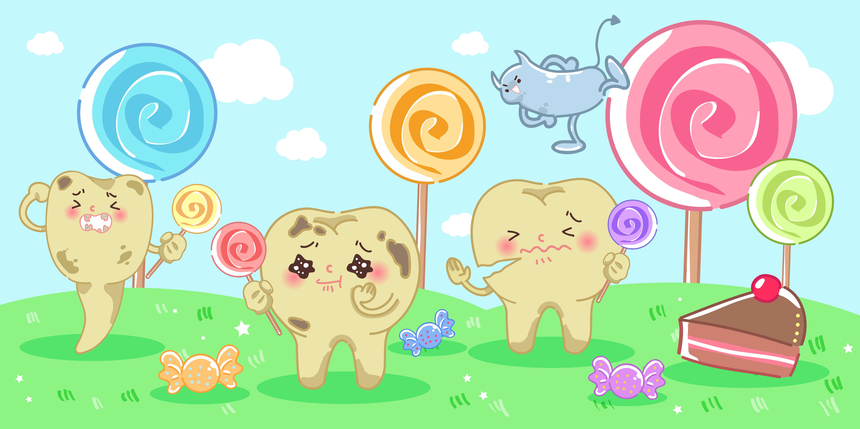 むし歯の原因菌は甘いものが好き