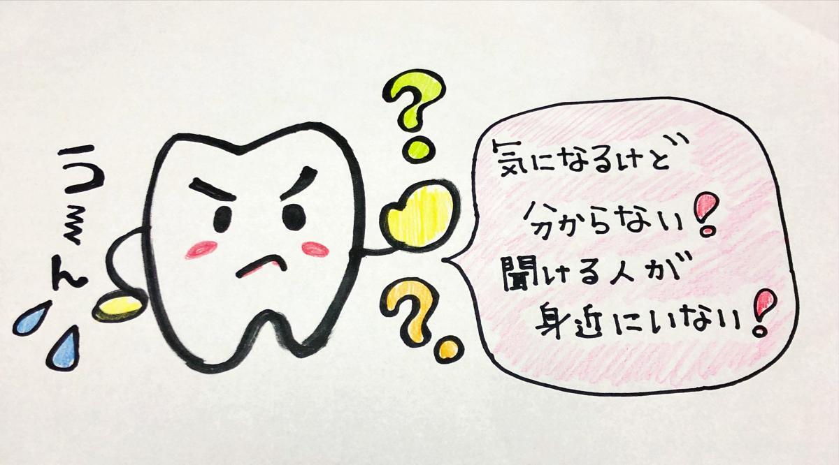 困ってる歯のキャラクター